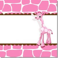Giraffe Pink Baby Shower Theme