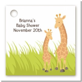 Giraffe - Personalized Baby Shower Card Stock Favor Tags