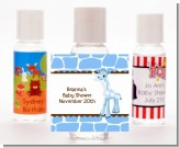 Giraffe Blue - Personalized Baby Shower Hand Sanitizers Favors