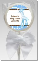 Giraffe Blue - Personalized Baby Shower Lollipop Favors