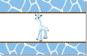 Giraffe Blue - Personalized Baby Shower Placemats