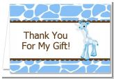 Giraffe Blue - Baby Shower Thank You Cards