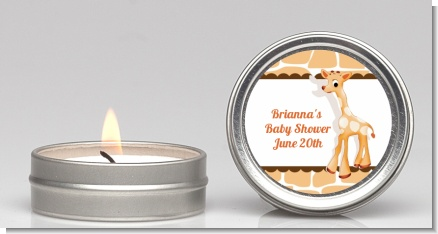 Giraffe Brown - Baby Shower Candle Favors