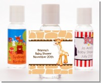 Giraffe Brown - Personalized Baby Shower Hand Sanitizers Favors
