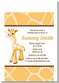 Giraffe Brown - Birthday Party Petite Invitations