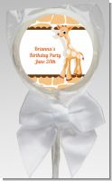 Giraffe Brown - Personalized Birthday Party Lollipop Favors