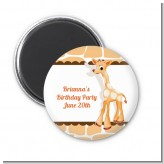 Giraffe Brown - Personalized Baby Shower Magnet Favors