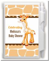 Giraffe Brown - Baby Shower Personalized Notebook Favor