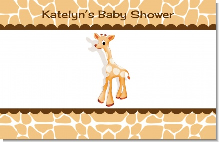Giraffe Brown - Personalized Baby Shower Placemats