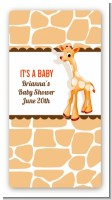 Giraffe Brown - Custom Rectangle Baby Shower Sticker/Labels