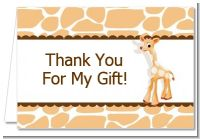 Giraffe Brown - Baby Shower Thank You Cards