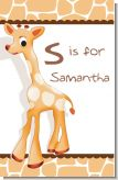Giraffe Brown - Personalized Baby Shower Nursery Wall Art