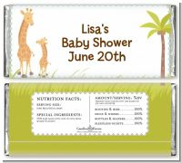 Giraffe - Personalized Baby Shower Candy Bar Wrappers
