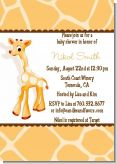 Giraffe Brown - Baby Shower Invitations
