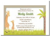 Giraffe - Baby Shower Petite Invitations