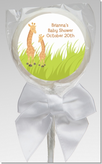 Giraffe - Personalized Baby Shower Lollipop Favors