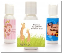 Giraffe - Personalized Baby Shower Lotion Favors