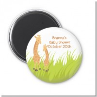 Giraffe - Personalized Baby Shower Magnet Favors