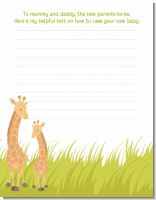 Giraffe - Baby Shower Notes of Advice