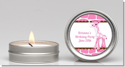 Giraffe Pink - Birthday Party Candle Favors