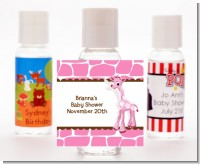 Giraffe Pink - Personalized Baby Shower Hand Sanitizers Favors