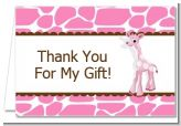 Giraffe Pink - Baby Shower Thank You Cards