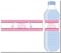Giraffe Pink - Personalized Baby Shower Water Bottle Labels