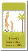Giraffe - Custom Rectangle Baby Shower Sticker/Labels