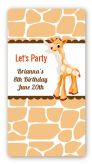 Giraffe Brown - Custom Rectangle Birthday Party Sticker/Labels