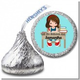 Girl Student - Hershey Kiss School Sticker Labels
