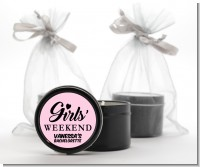 Girls Weekend - Bridal Shower Black Candle Tin Favors