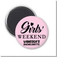 Girls Weekend - Personalized Bridal Shower Magnet Favors