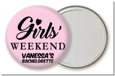 Girls Weekend - Personalized Bridal Shower Pocket Mirror Favors