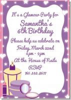 Glamour Girl - Birthday Party Invitations