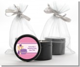Glamour Girl - Birthday Party Black Candle Tin Favors