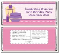 Glamour Girl - Personalized Birthday Party Candy Bar Wrappers