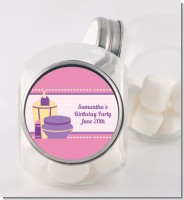 Glamour Girl - Personalized Birthday Party Candy Jar