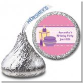 Glamour Girl - Hershey Kiss Birthday Party Sticker Labels