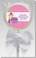 Glamour Girl - Personalized Birthday Party Lollipop Favors