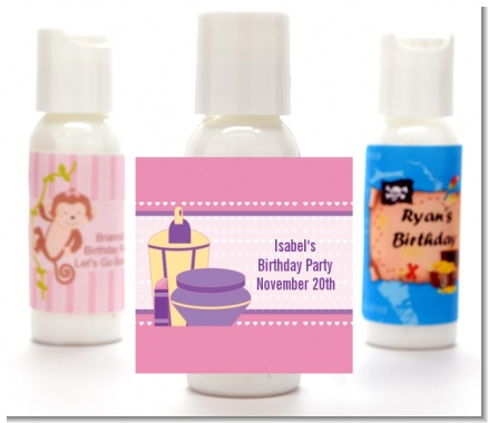 Glamour Girl - Personalized Birthday Party Lotion Favors