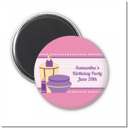 Glamour Girl - Personalized Birthday Party Magnet Favors