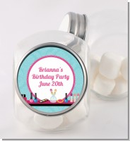 Glamour Girl Makeup Party - Personalized Birthday Party Candy Jar