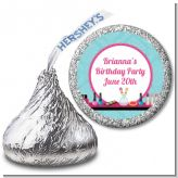 Glamour Girl Makeup Party - Hershey Kiss Birthday Party Sticker Labels