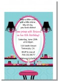 Glamour Girl Makeup Party - Birthday Party Petite Invitations