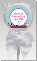 Glamour Girl Makeup Party - Personalized Birthday Party Lollipop Favors