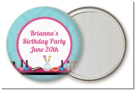 Glamour Girl Makeup Party - Personalized Birthday Party Pocket Mirror Favors