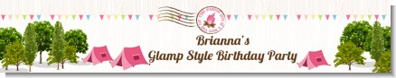Camping Glam Style - Personalized Birthday Party Banners