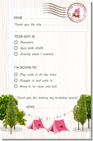 Camping Glam Style - Birthday Party Fill In Thank You Cards