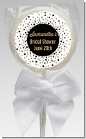 Glitter Black and White - Personalized Bridal Shower Lollipop Favors