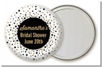 Glitter Black and White - Personalized Bridal Shower Pocket Mirror Favors
